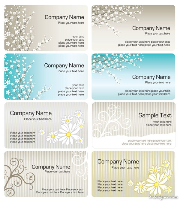 Exquisite pattern business card template 01 vector material