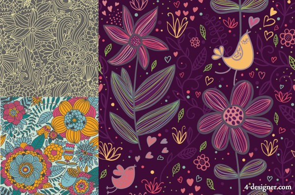 Exquisite pattern vector material