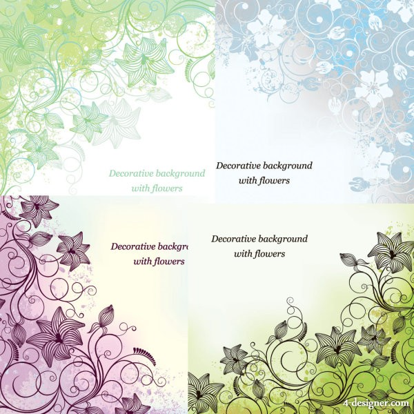Exquisite printing background Vector