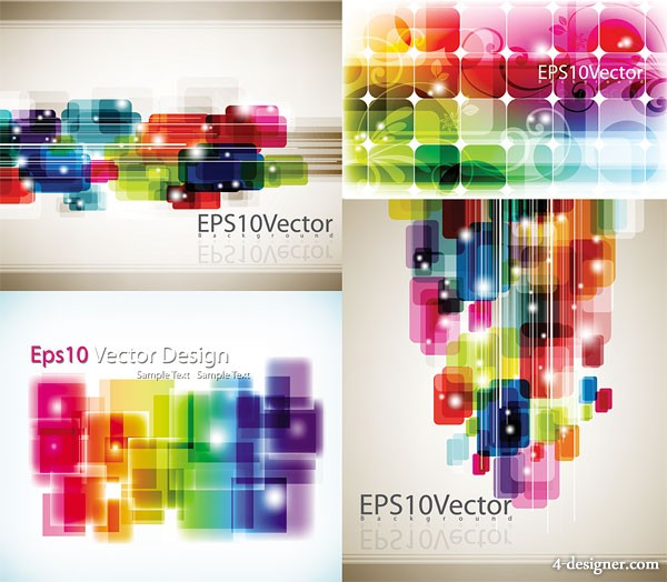 Fashion Symphony backgrounds vector material