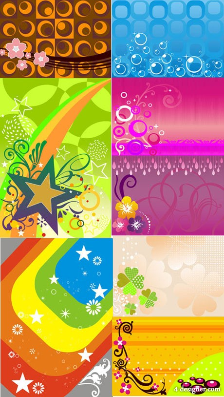 Fashion background vector material