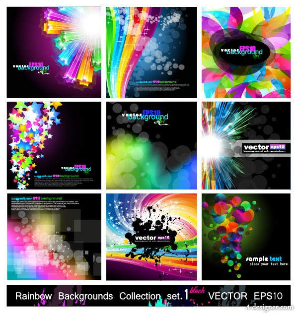 Fashion glare Symphony background vector material 1