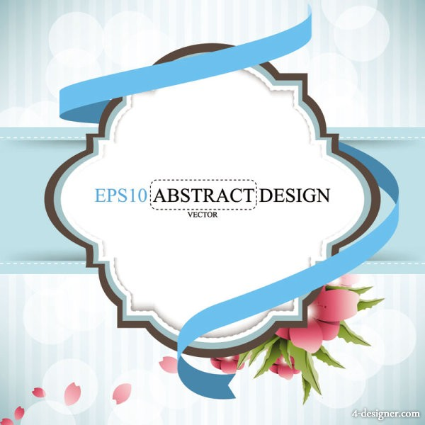 Fashion pattern label 03 vector material