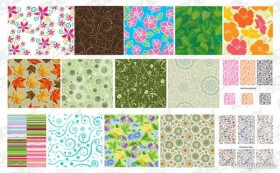 Featured tile pattern background vector material 1
