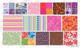 Featured tile pattern background vector material 2