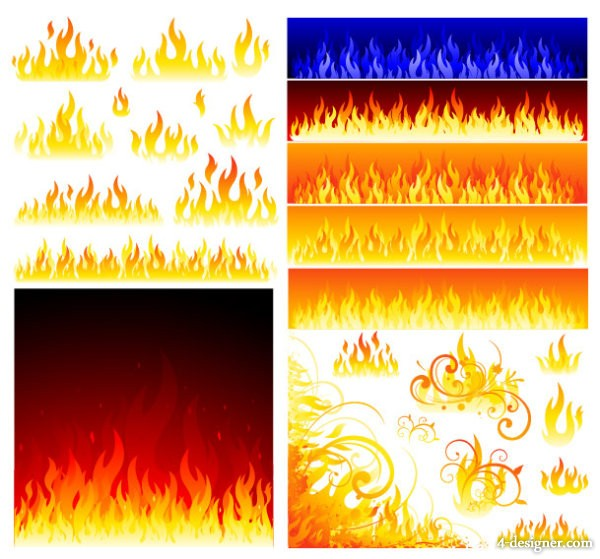 Flame vector material