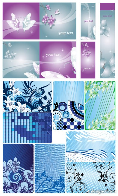 Flower pattern background vector material