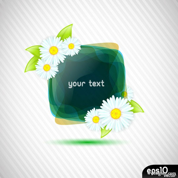Flowers texture border vector material 4