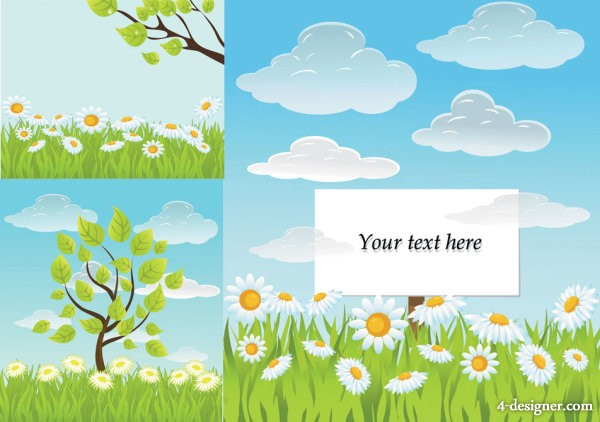 Fresh summer background vector material