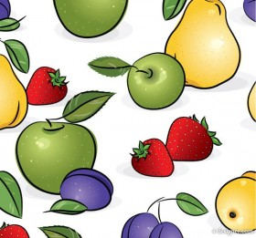 Fruits tiled background vector material 2