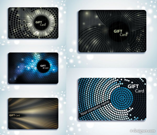 Gift card background vector material