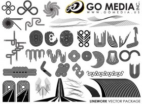 GoMedia Publisher vector material a combination of lines