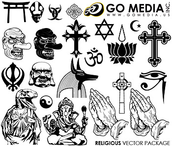 GoMedia Publisher vector set8 Religion