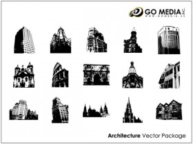 GoMedia produced vector material European ancient architecture