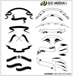 GoMedia produced vector material banners