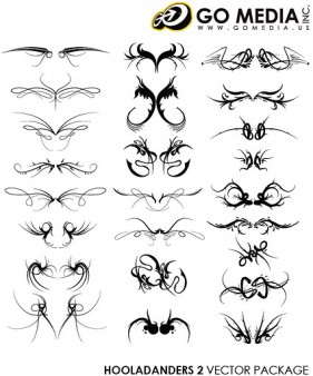 GoMedia produced vector material cool wings