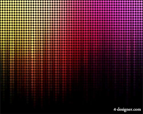Gorgeous color neon background image 07 vector material