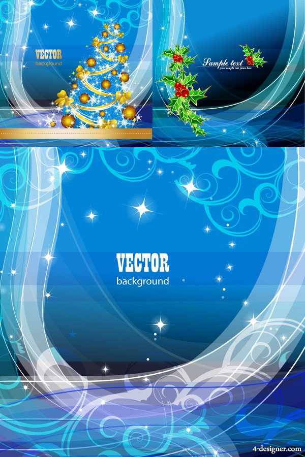 Gorgeous gorgeous Christmas background Vector
