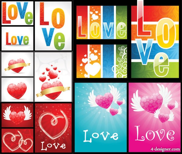Gorgeous love pattern Vector