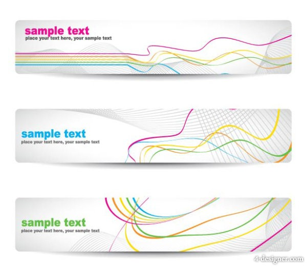 Gorgeous pattern banner vector material 04 vector material