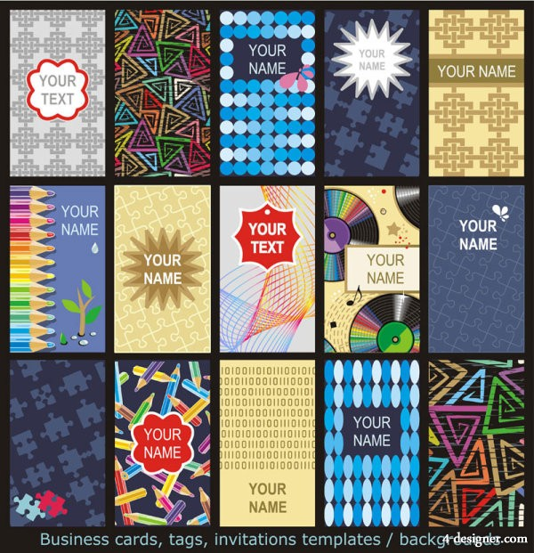 Gorgeous the pattern card Vector
