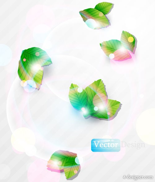 Halo leaves background vector material 01 vector material
