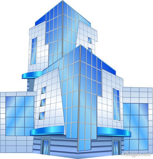 High rise buildings Vector 03 Vector