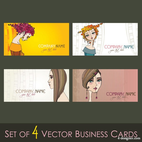 Illustrator card template 02 Vector