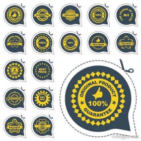 Kinds of badge labels 04 vector material