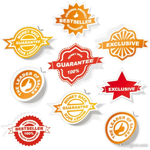Kinds of badge labels Vector 03 Vector