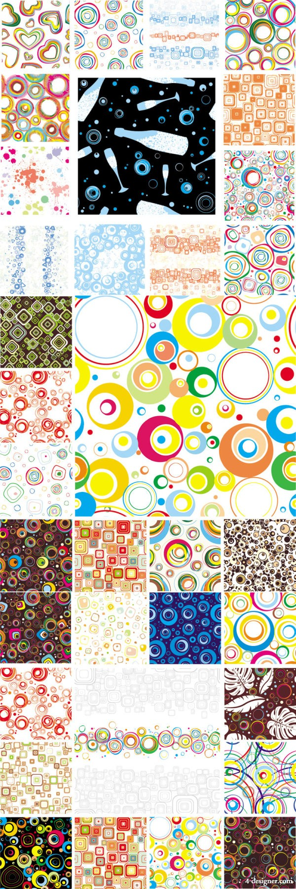 Kinds of colorful graphic pattern Vector