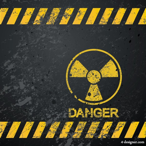Nuclear Warning signs 04 vector material