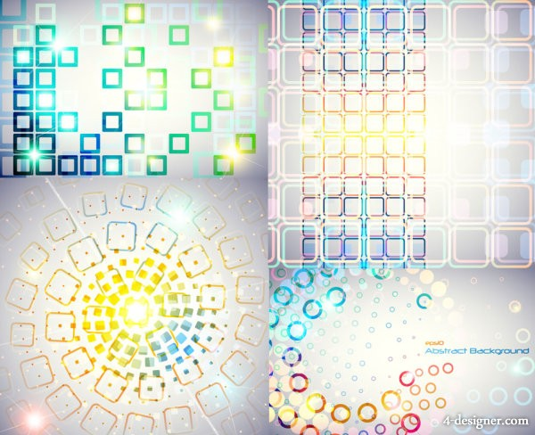 Of Symphony round and square background vector material