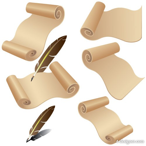 Old paper quill Vector