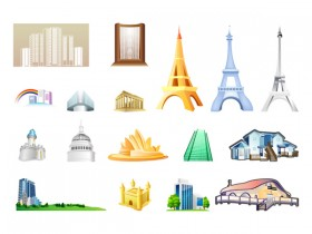 One of the buildings icon vector material