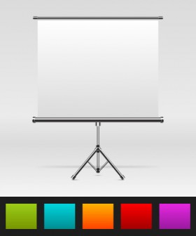 PPT curtain vector material