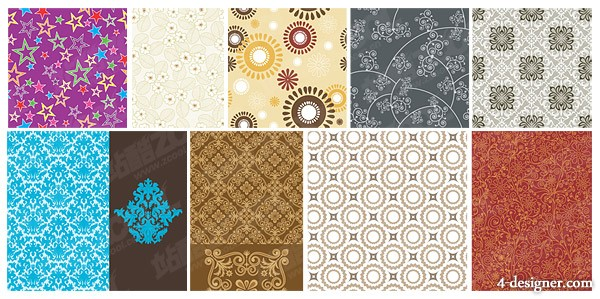 Practical pattern background vector material 4
