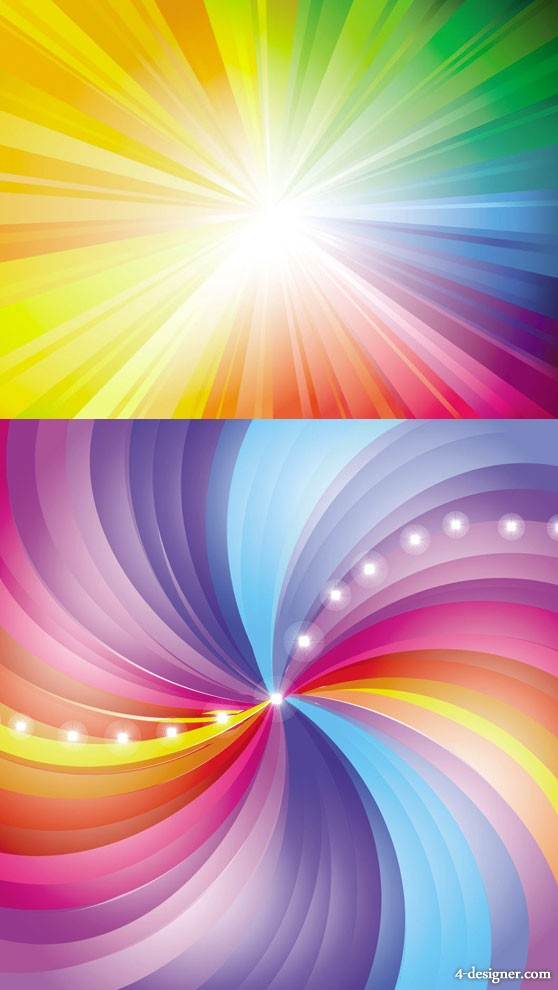 Radiation background of vector material