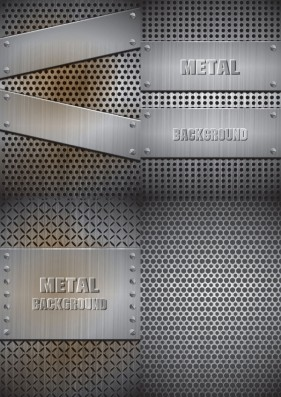 Realistic steel plate material Vector