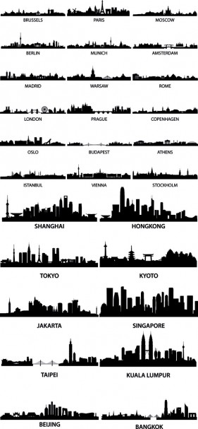 Renowned urban silhouette Vector