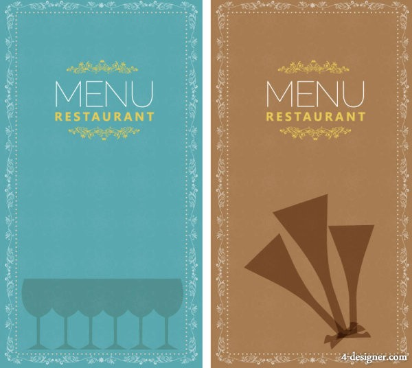 Restaurant menu 02 vector material
