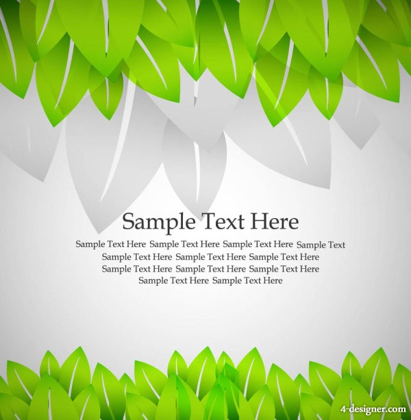 Roll angle and green leaves 02 vector material
