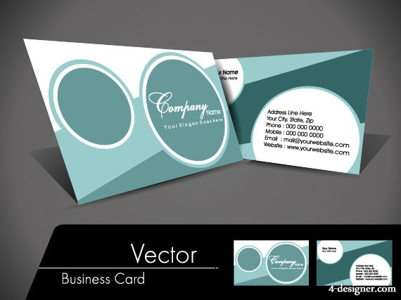 Simple card design 02 vector material