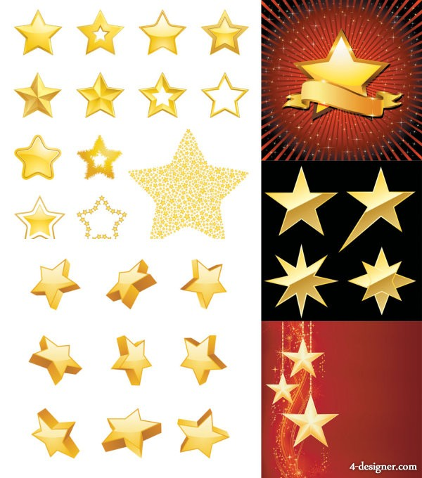 Star theme vector material