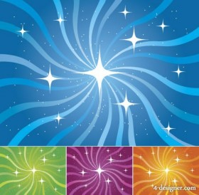 Starlight rotation lines background vector material