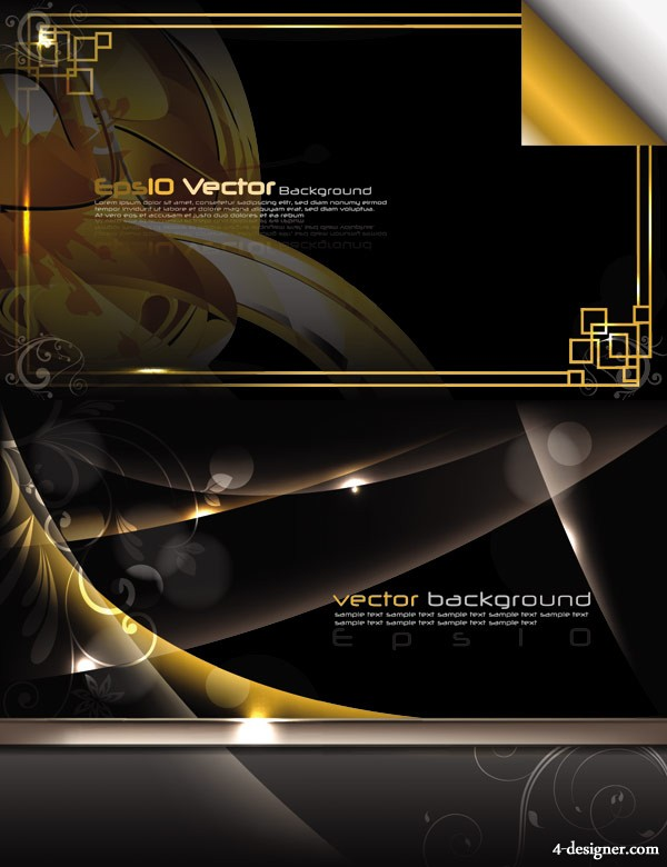 Stunning dynamic background 02 vector material