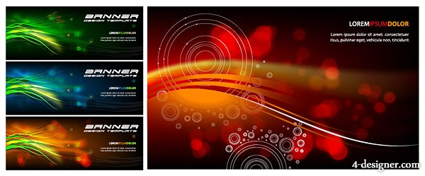 Symphony banner background vector material