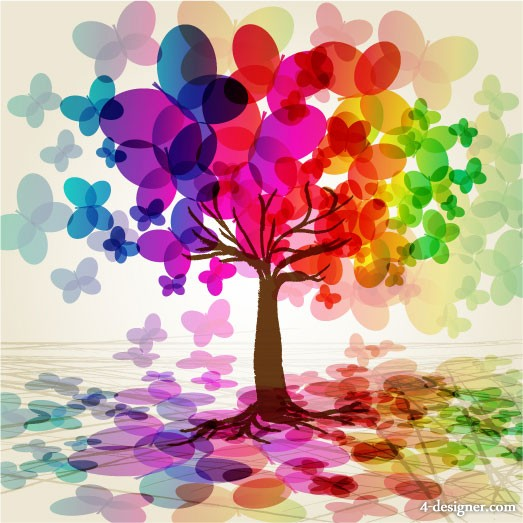 Symphony butterfly tree vector material