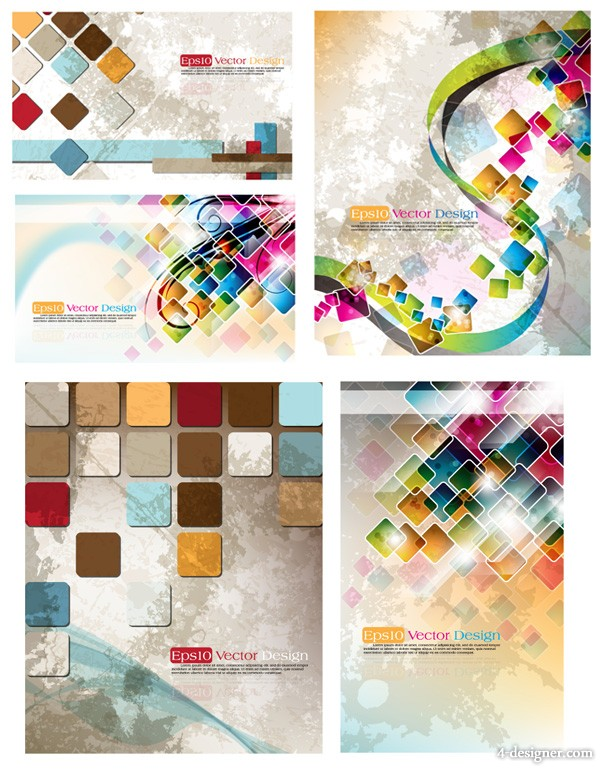 Symphony checkered background vector material