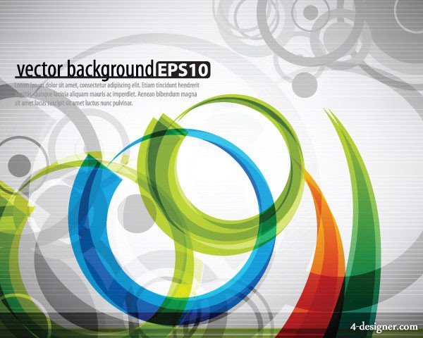 Symphony dynamic lines background vector material 2